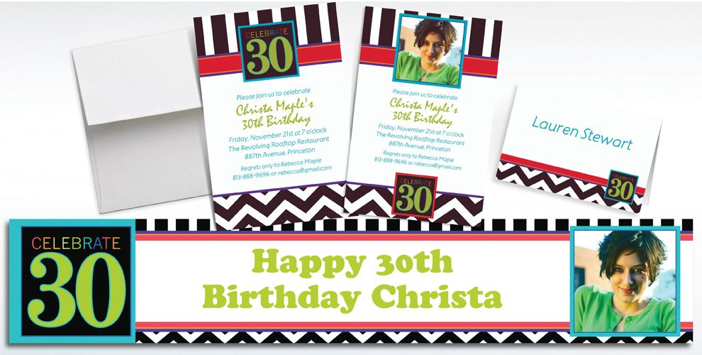 30th Birthday Invitations & Banners