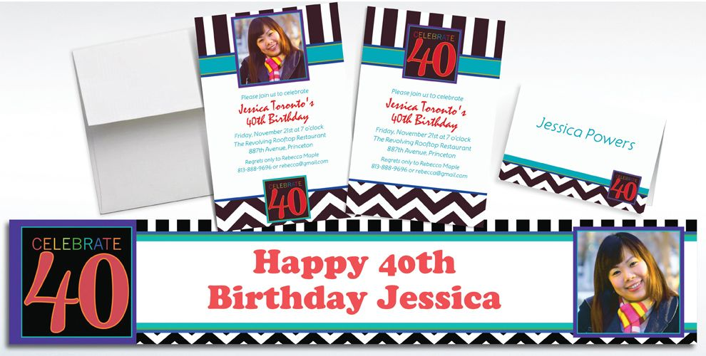40th Birthday Invitations & Banners