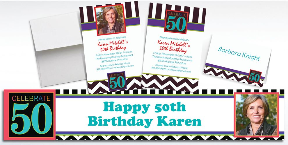 50th Birthday Invitations & Banners