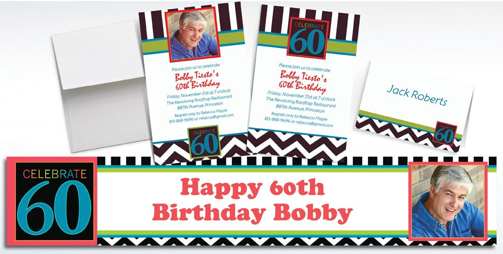 60th Birthday Invitations & Banners