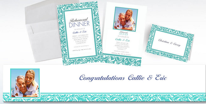 Robins Egg Blue Wedding Custom Invitations and Banners #2