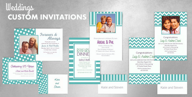Robins Egg Blue Wedding Custom Invitations and Banners #1
