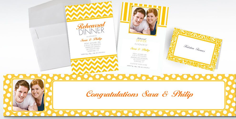 Sunshine Yellow Custom Invitations & Thank You Notes