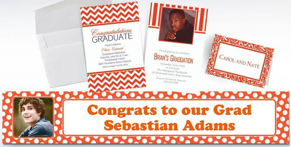 Orange Custom Invitations & Banners