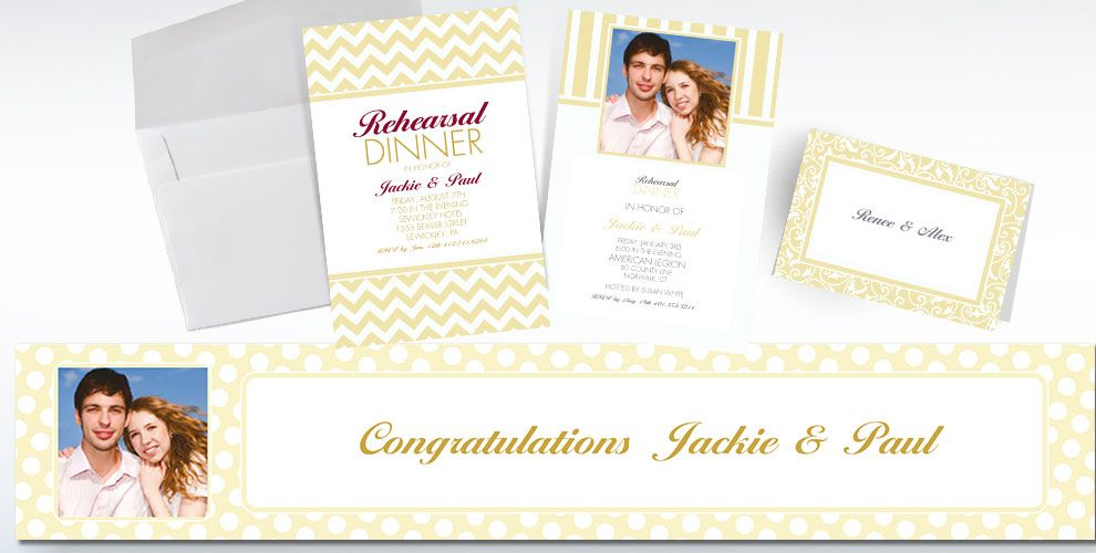 Vanilla Custom Invitations & Thank You Notes