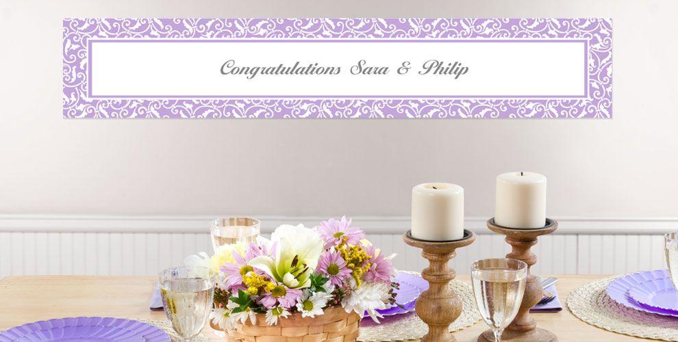Lavender Custom Wedding Banners