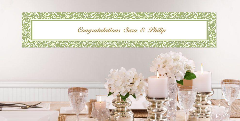 Leaf Green Custom Wedding Banners