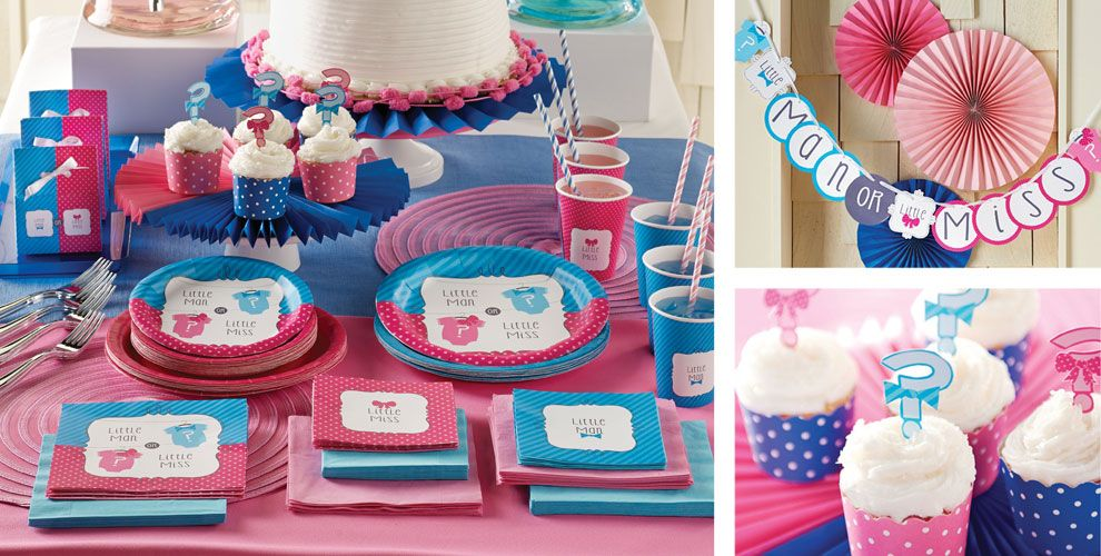 Gender Reveal Party Supplies, Invitations & Decorations ...