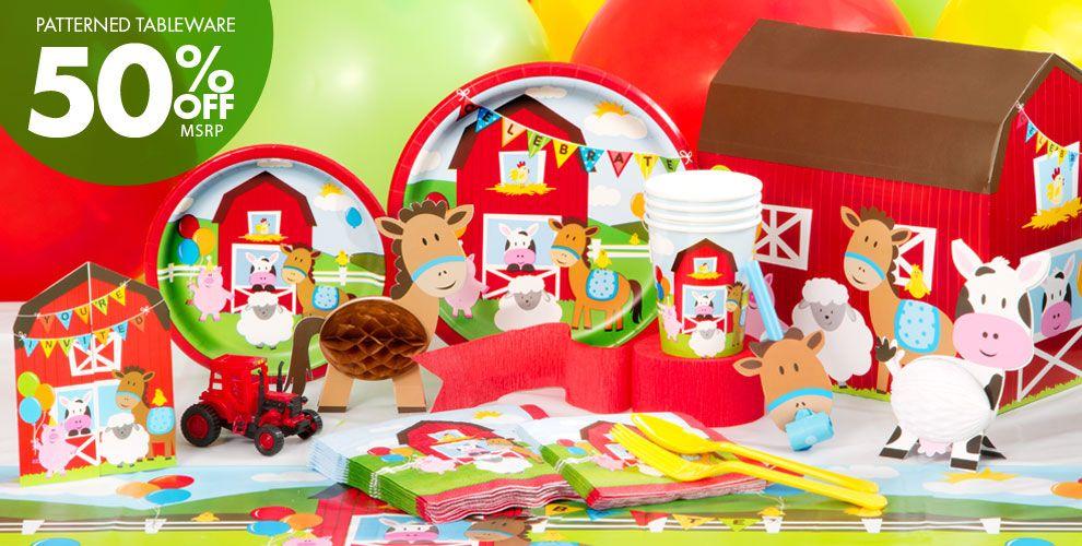 Farmhouse Fun Birthday Party Supplies