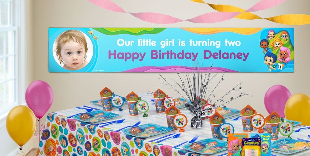 Custom Bubble Guppies Birthday Banners Party City