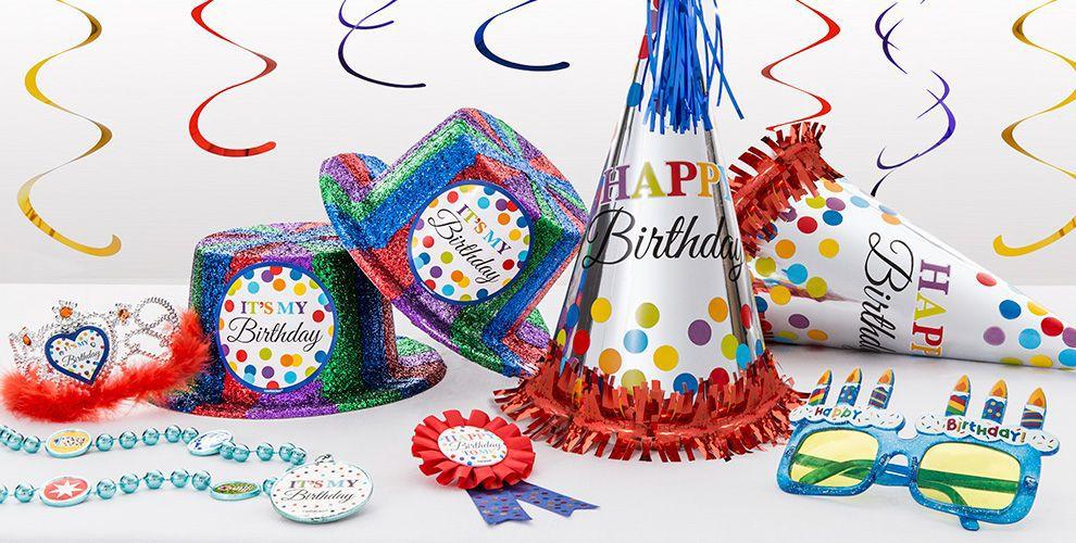 Bright Dot & Chevron Birthday Party Supplies