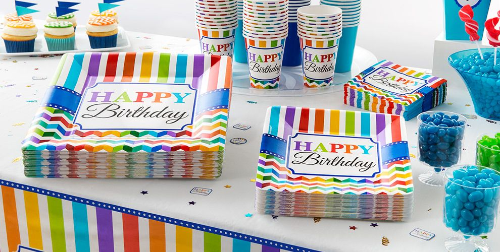Bright Chevron Birthday Party Supplies #2