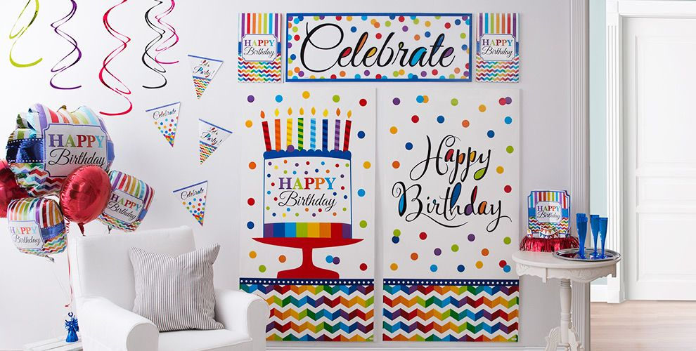Rainbow Chevron Birthday Party Supplies