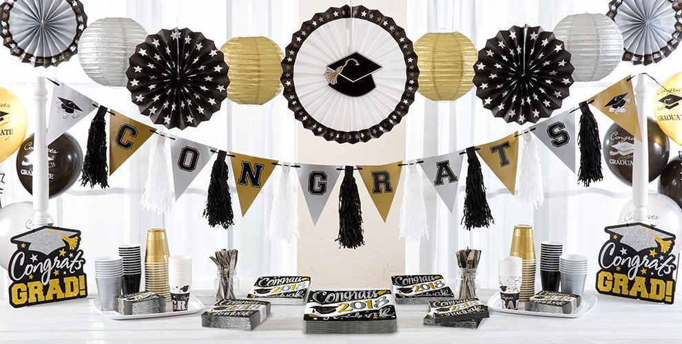 Festive Grad 2017 Graduation Party Supplies