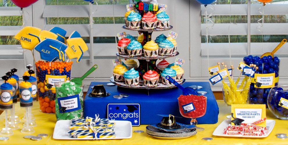 Colorful Brights Graduation Baking Supplies — Congrats Grad 2017