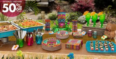 Superb Hawaii Themed Decorations Part - 6: Tiki Party Supplies