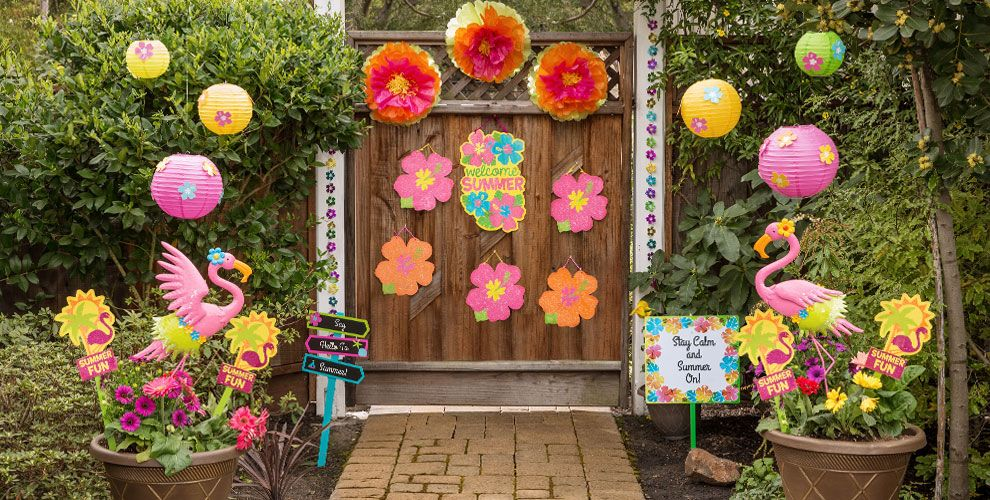 Hibiscus decorations flower party