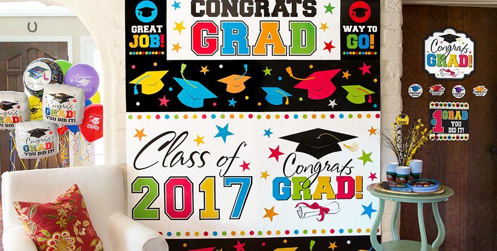 Graduation Wall Decorations — Congrats Grad 2017