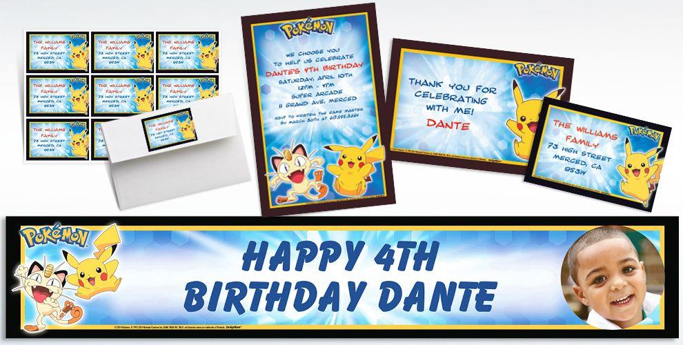 Pokemon Invitations & Banners