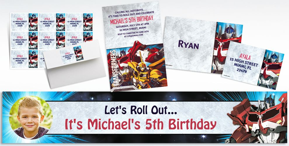 Transformers Invitations & Banners