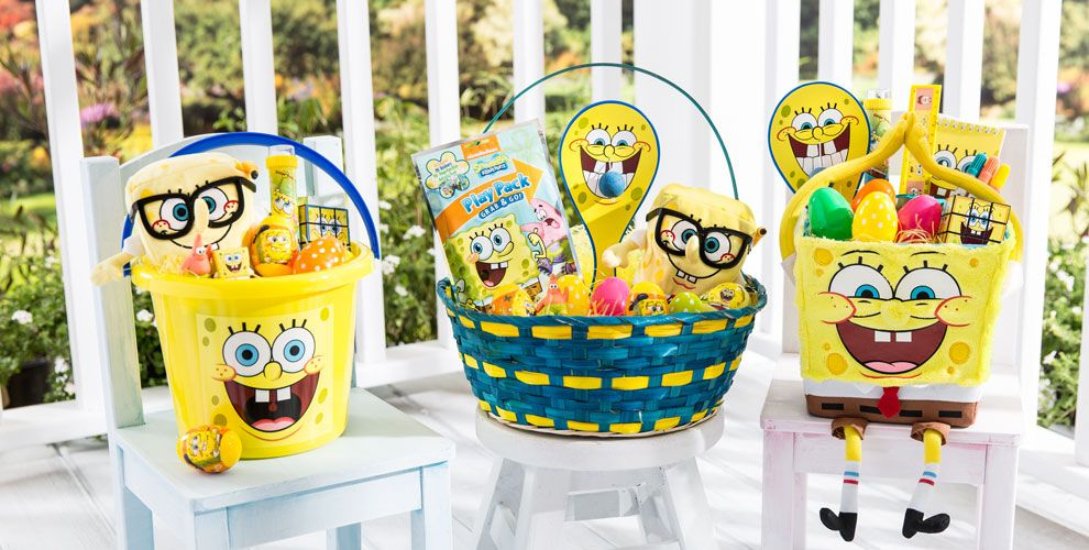 Build Your Own SpongeBob Easter Basket
