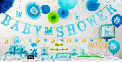 ... Welcome Baby Boy Baby Shower Party Supplies ...