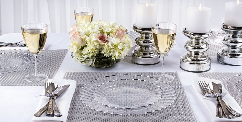 Clear Scalloped Plate Family