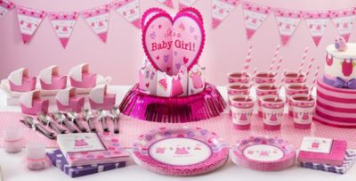 Charming Patterned Tableware 50% Off MSRP U2014 Itu0027s A Girl Baby Shower Party Supplies  ...