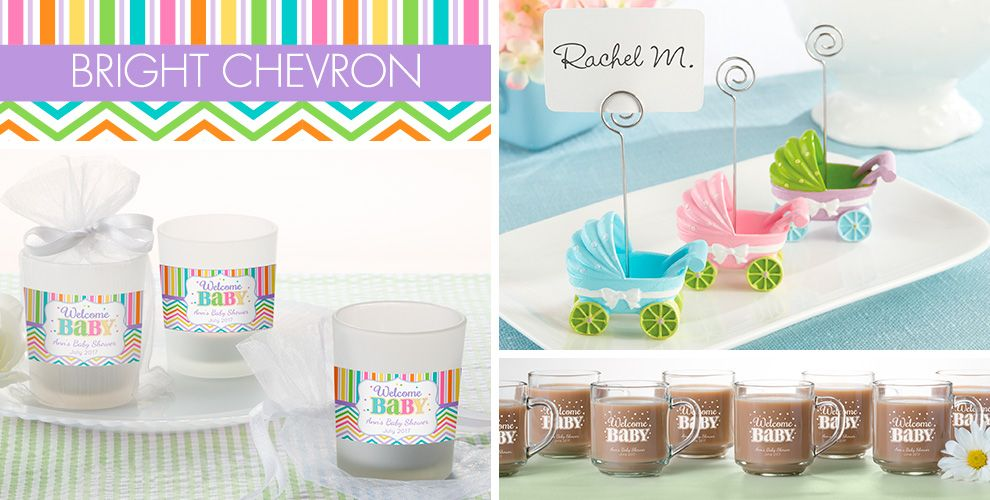 Pastel rainbow chevron welcome baby party supplies party for Baby welcome party decoration ideas