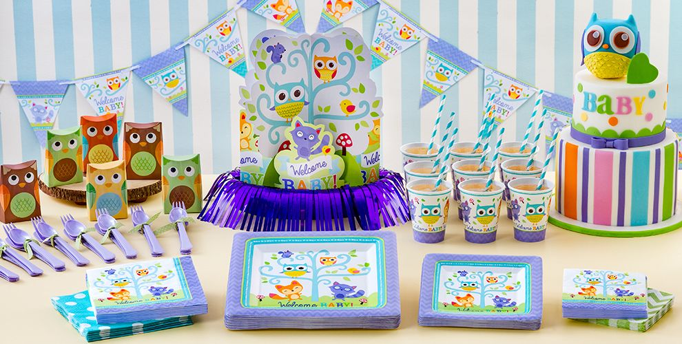 Woodland baby shower party supplies party city for Baby shower decoration kit