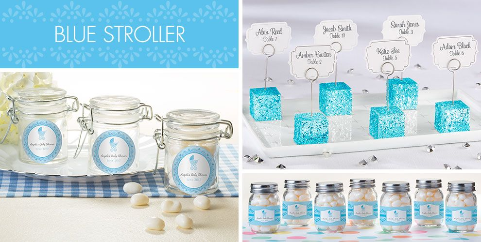 Blue Stroller Baby Shower Party Supplies