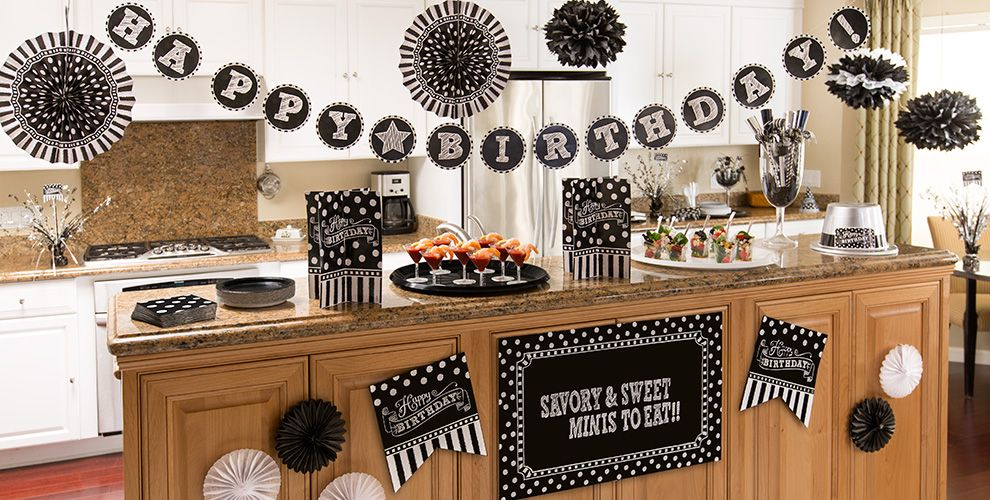 Black & White Birthday Party Supplies