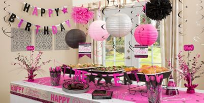 Black Pink Birthday Party Supplies Party City