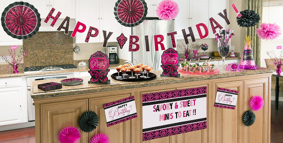 Pink & Black Birthday Party Supplies