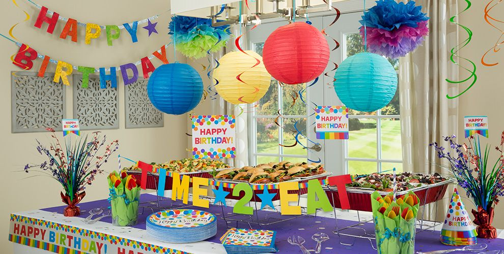 Rainbow Birthday Party Supplies  Party City ~ 215751_Birthday Party Ideas Zurich