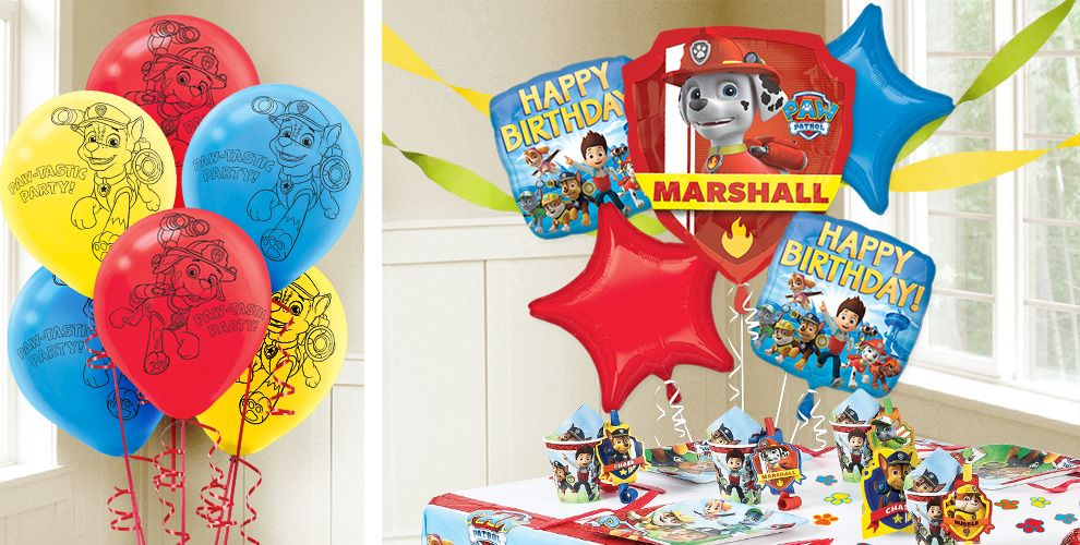 PAW Patrol Balloons Birthday Party