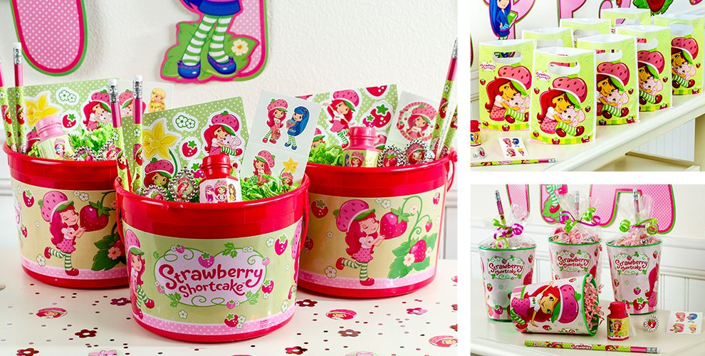 Strawberry Shortcake Party Favors