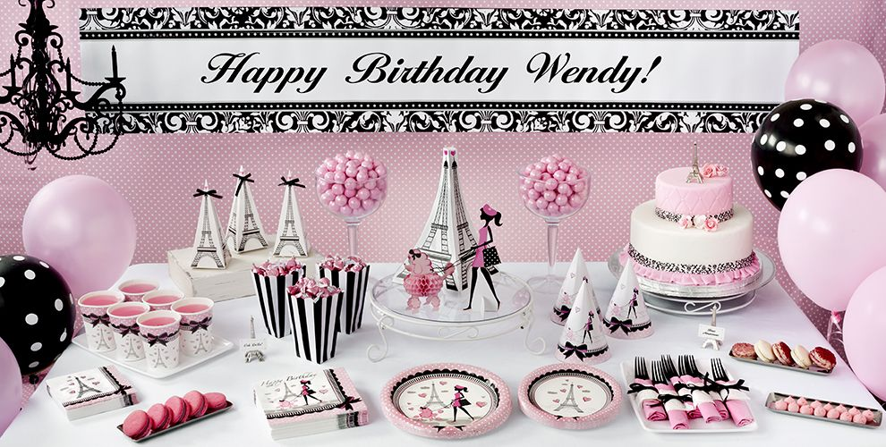 Pink Paris Party Supplies - Paris Theme Party - Party City Canada