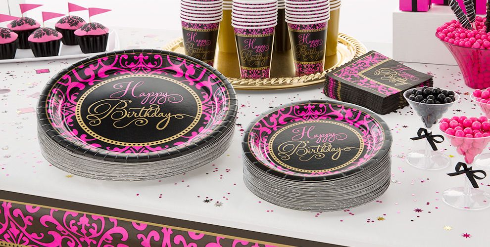 Damask Birthday Party Supplies #2