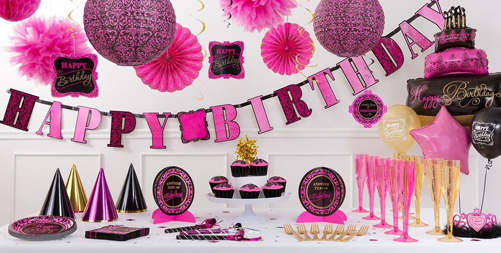 Damask Birthday Party Supplies #3