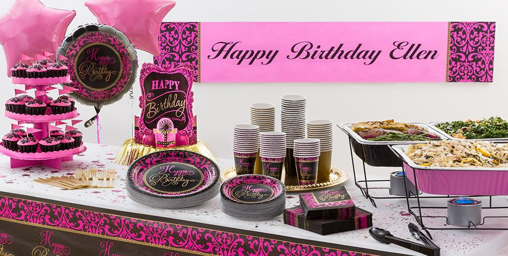 Damask Birthday Party Supplies #1