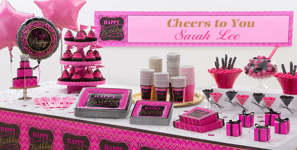 Decorating Ideas > Pink Chevron Birthday Party Supplies  Pink & Gold Party  ~ 180449_Birthday Party Ideas Quezon City