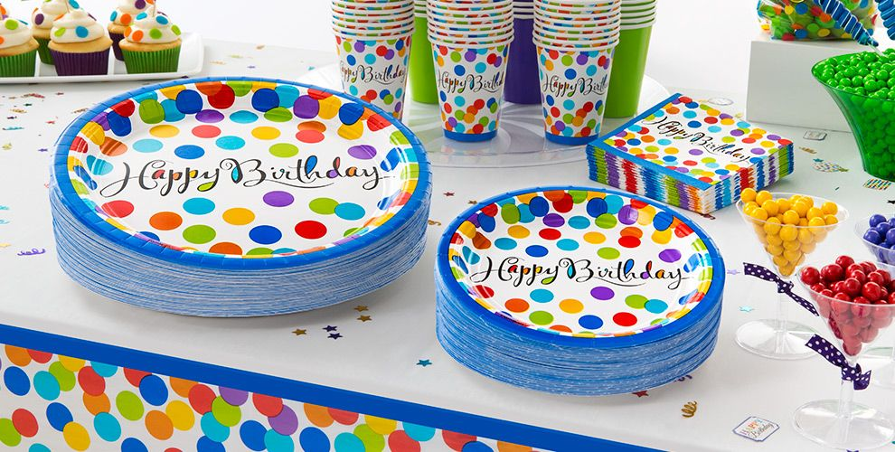 Bright Dot Birthday Party Supplies #2