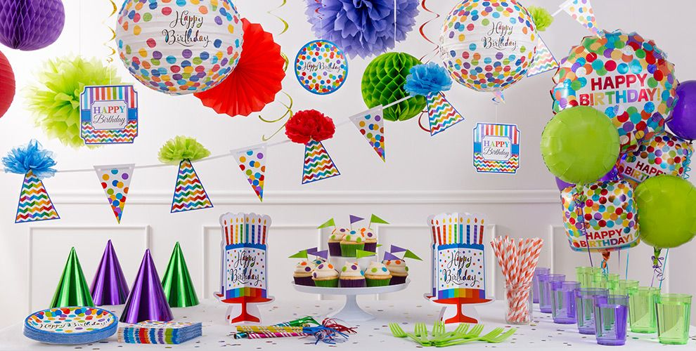 Bright Dot Birthday Party Supplies #3