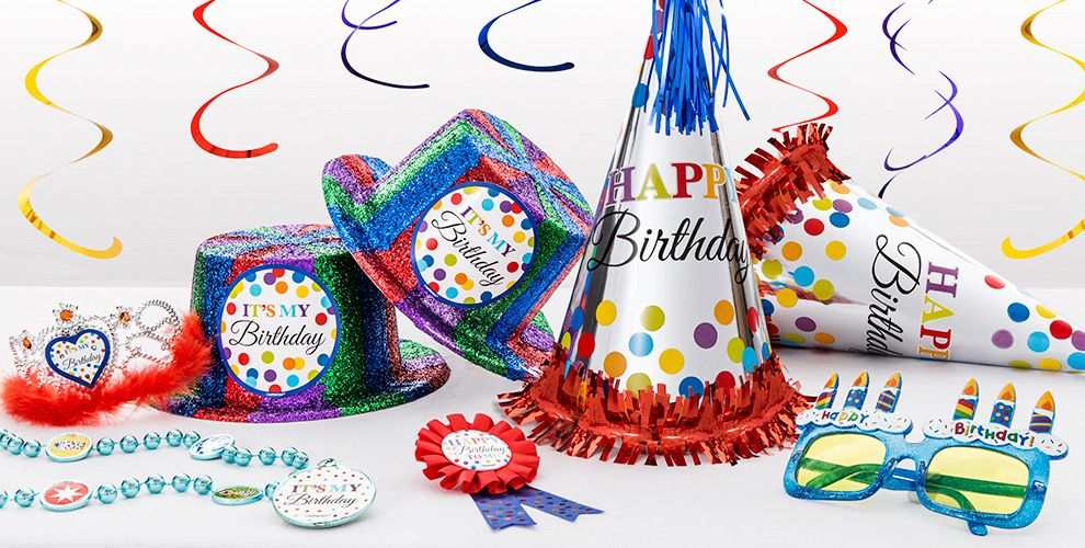 Rainbow Dot Birthday Party Supplies