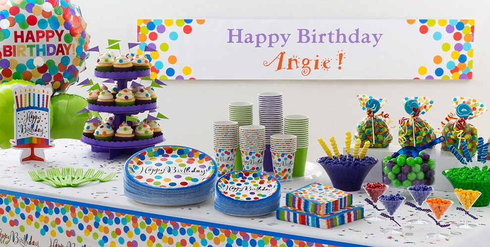 Bright Dot Birthday Party Supplies #1