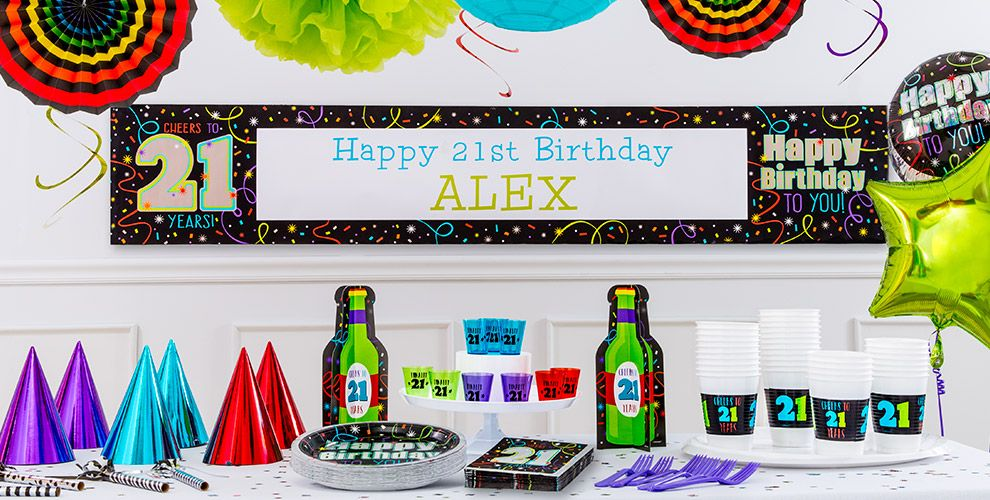 Brilliant 21st Birthday Party Supplies