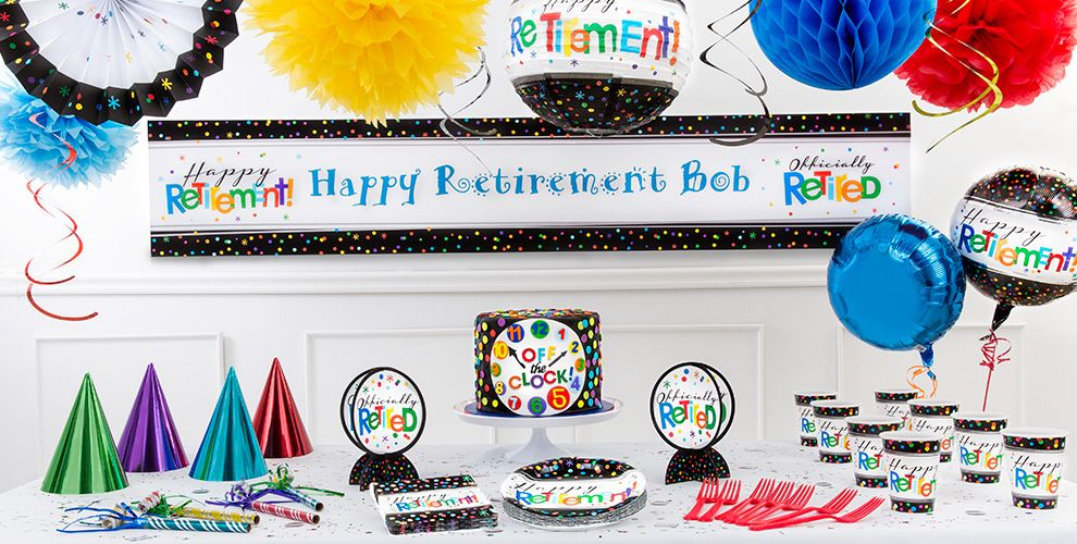 Happy Retirement Celebration Party Supplies