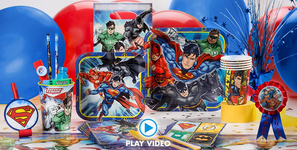 Justice League Party Supplies 50% off Patterned Tableware