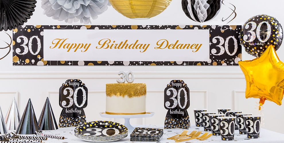 Sparkling Celebration 30th Birthday Party Supplies